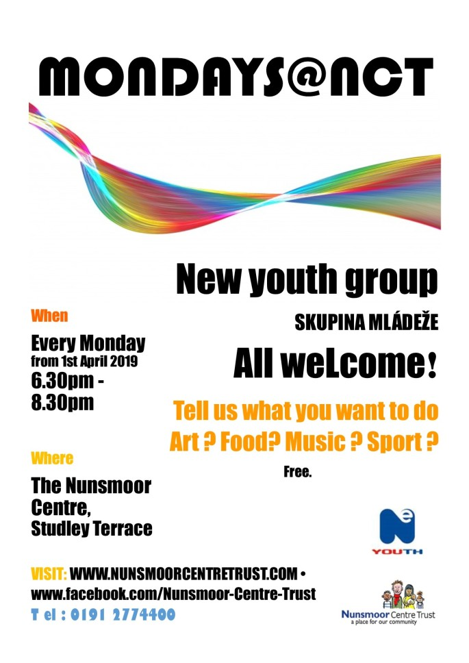 Monday Youth Group Flyer April 2019