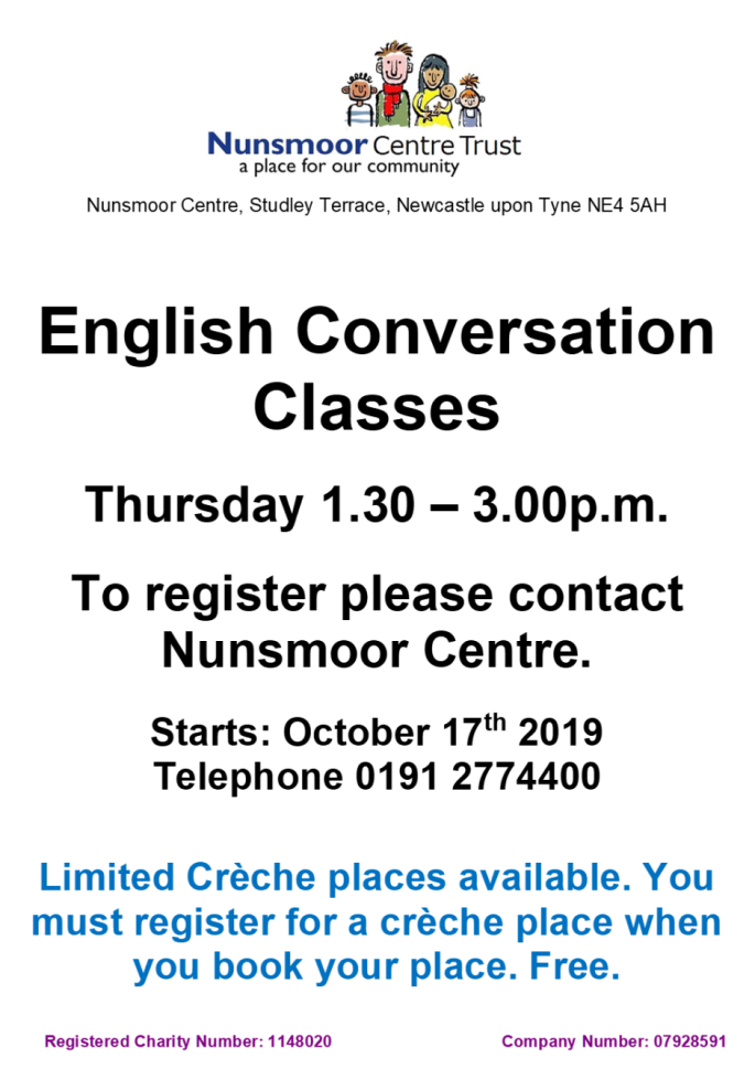 Poster English Conversation THUR 2019